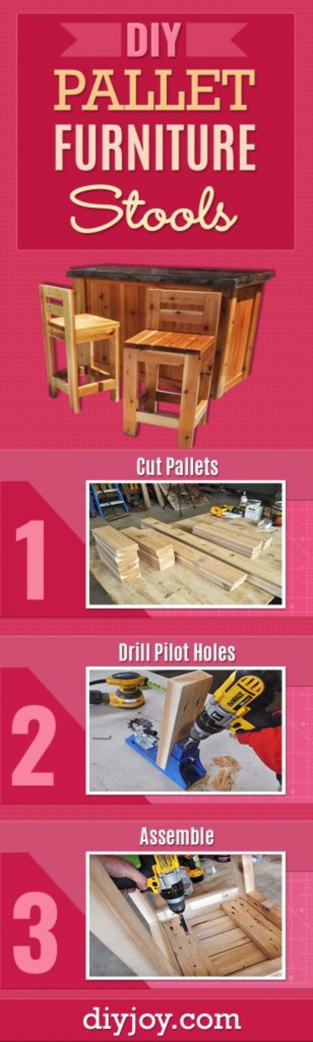 DIY Barstools - DIY Wooden Stools - Easy and Cheap Ideas for Seating and Creative Home Decor - Do It Yourself Bar Stools for Modern, Rustic, Farmhouse, Shabby Chic, Industrial and Simple Classic Decor - Do It Yourself Dining Room Seating Complete With Step by Step Tutorials http://diyjoy.com/diy-barstools