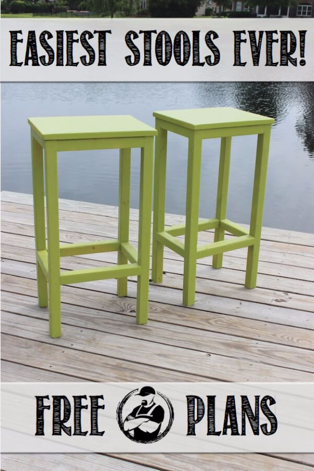 DIY Barstools - Easy DIY Bar Stools - Easy and Cheap Ideas for Seating and Creative Home Decor - Do It Yourself Bar Stools for Modern, Rustic, Farmhouse, Shabby Chic, Industrial and Simple Classic Decor - Do It Yourself Dining Room Seating Complete With Step by Step Tutorials http://diyjoy.com/diy-barstools