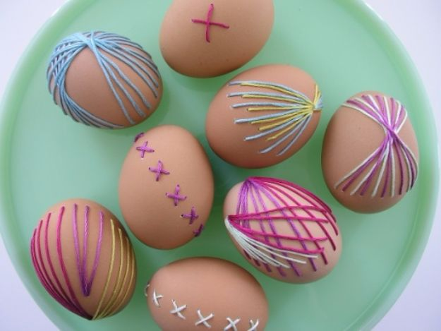 Free Embroidery Patterns - Embroidered Eggs - Best Embroidery Projects and Step by Step DIY Tutorials for Making Home Decor, Wall Art, Pillows and Creative Handmade Sewing Gifts - Machine Ideas and Hand Sewn Ideas for Beginners - Quotes, Modern Art, Flowers, Christmas Decor, Kitchen Towels and Easy Applique Designs http://diyjoy.com/free-embroidery-patterns