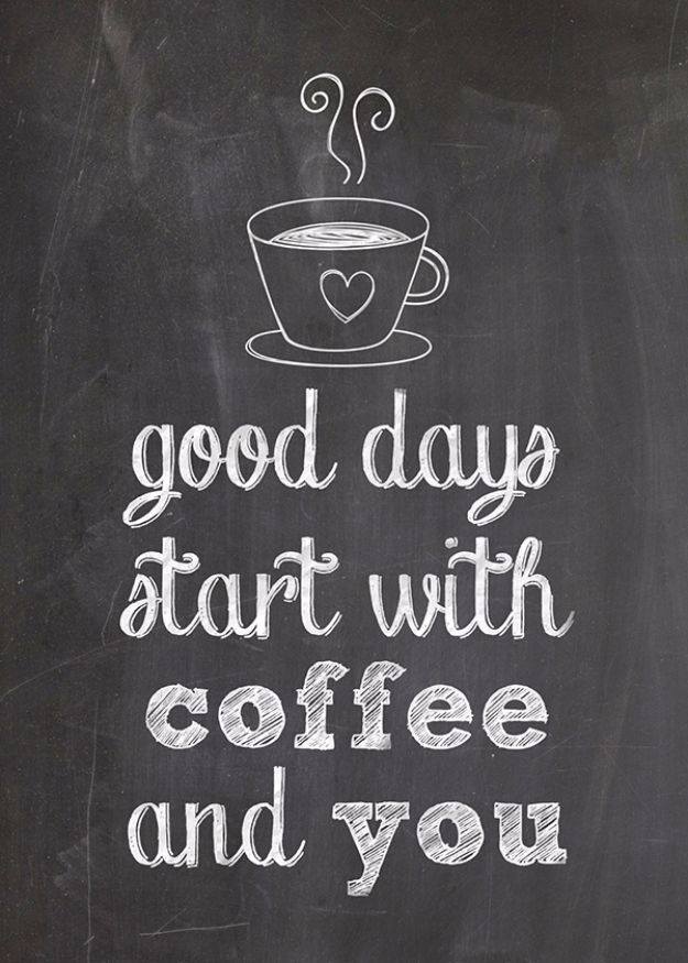 Free Printables For Your Walls - Free Printable For Coffee Lovers - Best Free Prints for Wall Art and Picture to Print for Home and Bedroom Decor - Ideas for the Home, Organization - Quotes for Bedroom and Kitchens, Vintage Bathroom Pictures - Downloadable Printable for Kids - DIY and Crafts by DIY JOY http://diyjoy.com/free-printables-walls