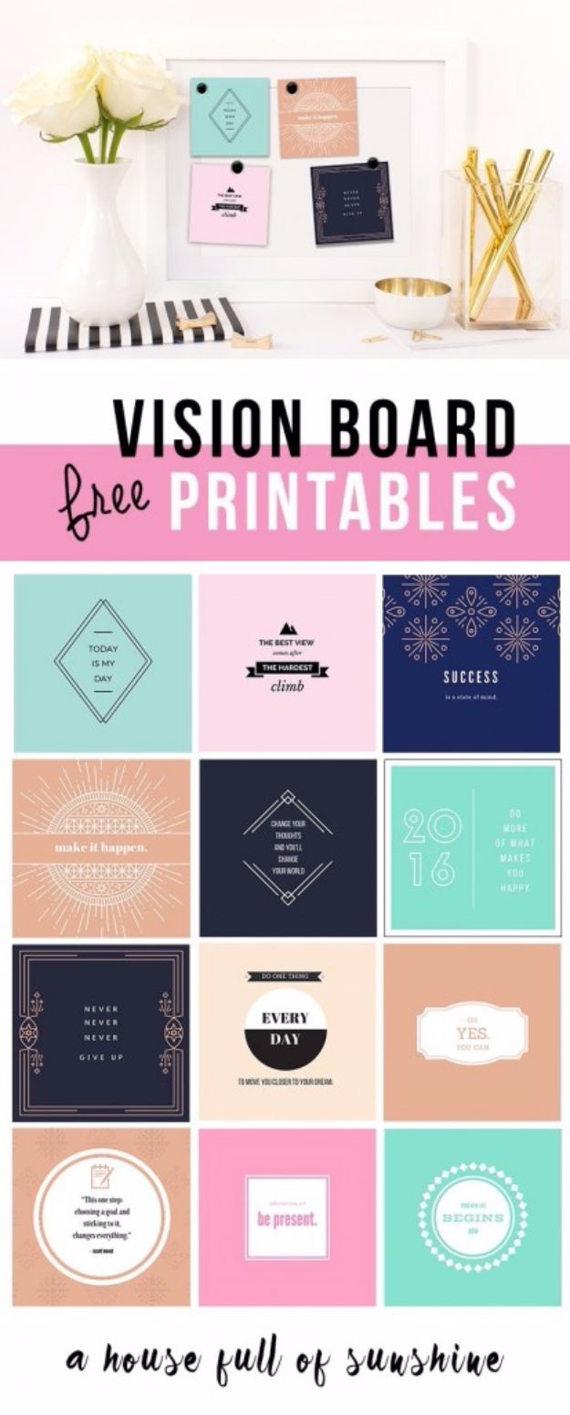Free Printables For Your Walls - Free Vision Board Printables - Best Free Prints for Wall Art and Picture to Print for Home and Bedroom Decor - Ideas for the Home, Organization - Quotes for Bedroom and Kitchens, Vintage Bathroom Pictures - Downloadable Printable for Kids - DIY and Crafts by DIY JOY http://diyjoy.com/free-printables-walls