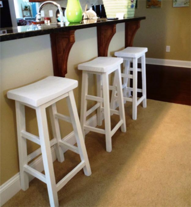 DIY Barstools - Make Your Own Bar Stools - Easy and Cheap Ideas for Seating and Creative Home Decor - Do It Yourself Bar Stools for Modern, Rustic, Farmhouse, Shabby Chic, Industrial and Simple Classic Decor - Do It Yourself Dining Room Seating Complete With Step by Step Tutorials http://diyjoy.com/diy-barstools