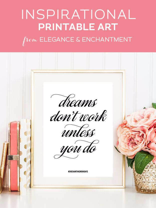 Free Printables For Your Walls - Printable Inspirational Quote - Best Free Prints for Wall Art and Picture to Print for Home and Bedroom Decor - Ideas for the Home, Organization - Quotes for Bedroom and Kitchens, Vintage Bathroom Pictures - Downloadable Printable for Kids - DIY and Crafts by DIY JOY http://diyjoy.com/free-printables-walls