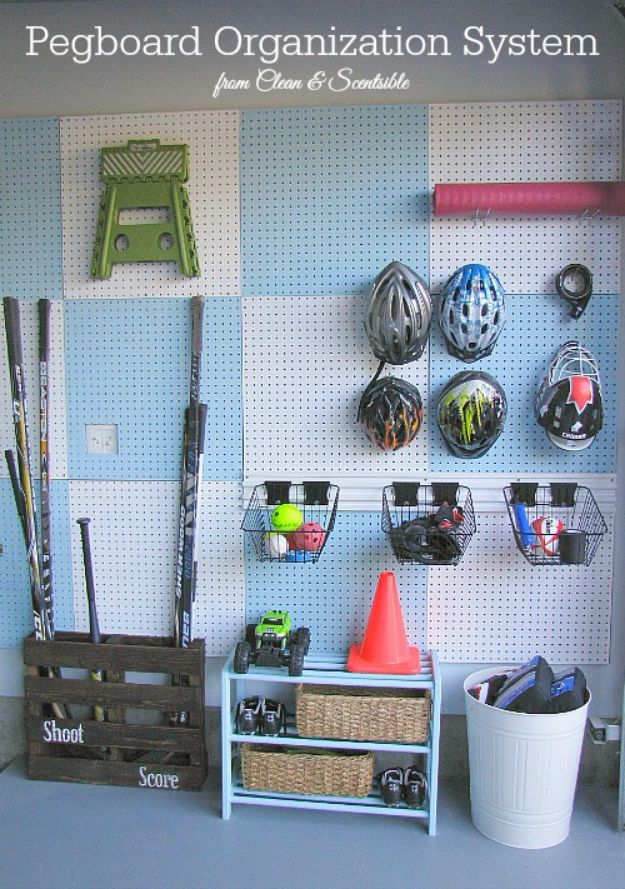 DIY Projects Your Garage Needs - Garage Pegboard Organizer - Do It Yourself Garage Makeover Ideas Include Storage, Mudroom, Organization, Shelves, and Project Plans for Cool New Garage Decor - Easy Home Decor on A Budget http://diyjoy.com/diy-garage-ideas