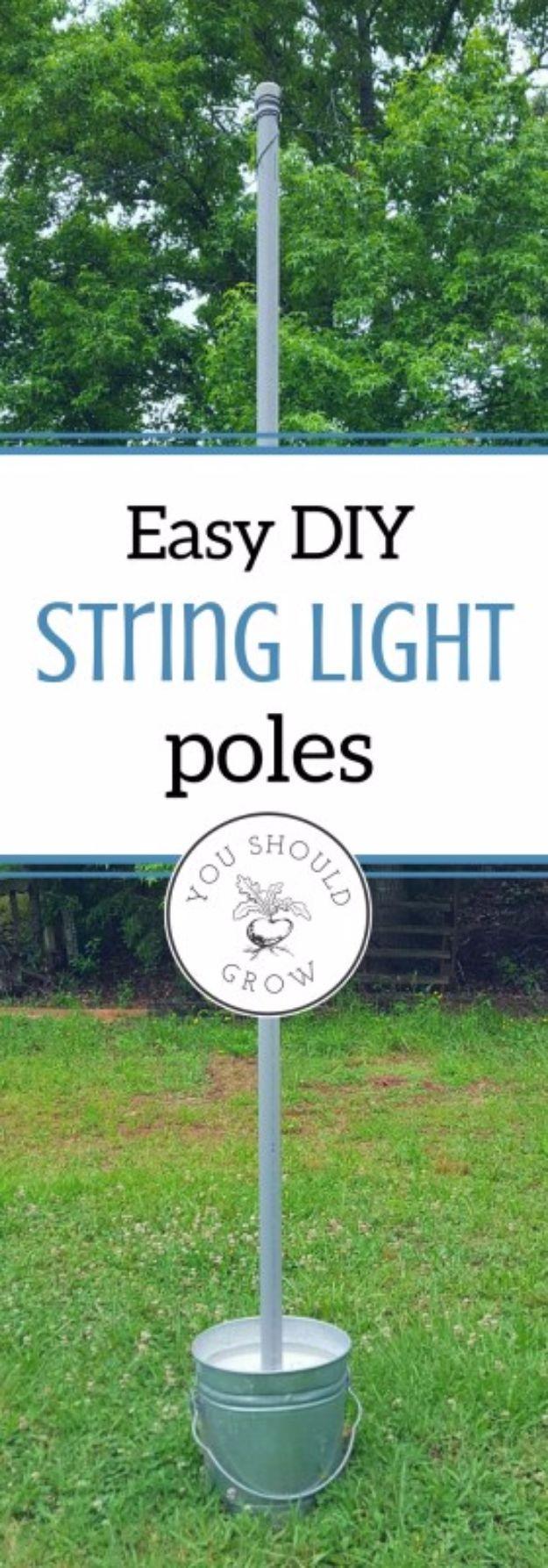 41 DIY Outdoor Lighting Ideas on Backyard String Lights Diy  id=56483