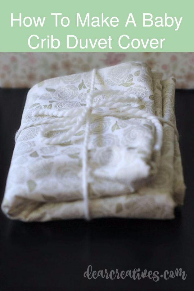 DIY Duvet Covers - Crib Size Duvet Cover - Easy Sewing Projects and No Sew Ideas for Duvets - Cheap Bedroom Decor Ideas on A Budget - How To Sew A Duvet Cover and Bedding Tutorial - Creative Covers for Bed - Quick Projects for Making Designer Duvets - Awesome Home Decor Ideas and Crafts http://diyjoy.com/diy-duvet-covers