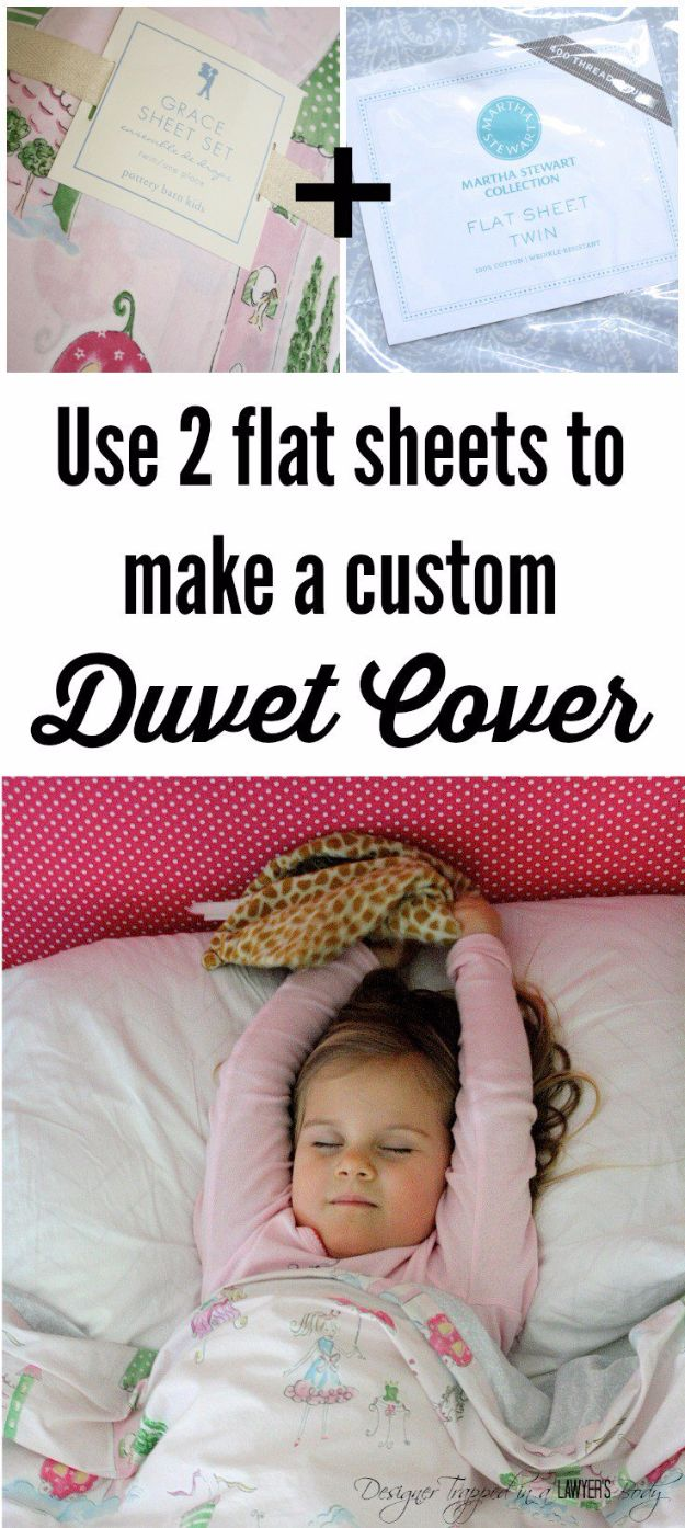 DIY Duvet Covers - Custom Duvet Cover - Easy Sewing Projects and No Sew Ideas for Duvets - Cheap Bedroom Decor Ideas on A Budget - How To Sew A Duvet Cover and Bedding Tutorial - Creative Covers for Bed - Quick Projects for Making Designer Duvets - Awesome Home Decor Ideas and Crafts http://diyjoy.com/diy-duvet-covers