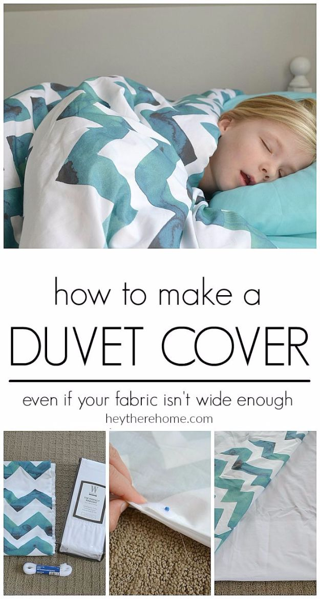 DIY Duvet Covers - DIY Cozy Duvet Cover - Easy Sewing Projects and No Sew Ideas for Duvets - Cheap Bedroom Decor Ideas on A Budget - How To Sew A Duvet Cover and Bedding Tutorial - Creative Covers for Bed - Quick Projects for Making Designer Duvets - Awesome Home Decor Ideas and Crafts http://diyjoy.com/diy-duvet-covers