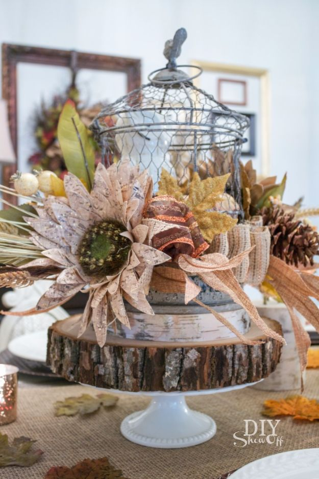 Best Crafts for Fall - Decorative Fall Centerpiece - DIY Mason Jar Ideas, Dollar Store Crafts, Rustic Pumpkin Ideas, Wreaths, Candles and Wall Art, Centerpieces, Wedding Decorations, Homemade Gifts, Craft Projects with Leaves, Flowers and Burlap, Painted Art, Candles and Luminaries for Cool Home Decor - Quick and Easy Projects With Step by Step Tutorials and Instructions http://diyjoy.com/best-crafts-for-fall