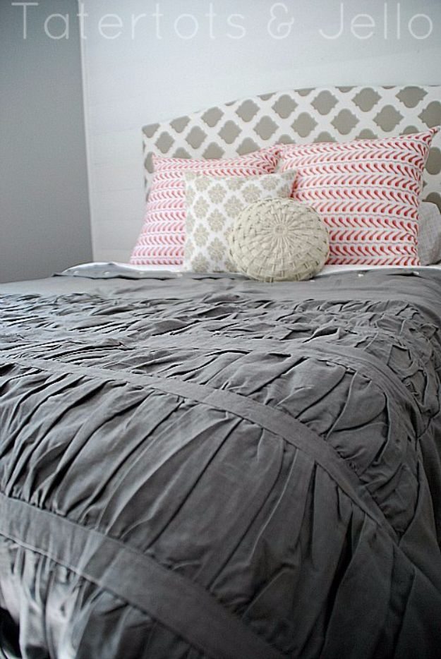 DIY Duvet Covers - Duvet Cover Out Of A Shower Curtain - Easy Sewing Projects and No Sew Ideas for Duvets - Cheap Bedroom Decor Ideas on A Budget - How To Sew A Duvet Cover and Bedding Tutorial - Creative Covers for Bed - Quick Projects for Making Designer Duvets - Awesome Home Decor Ideas and Crafts http://diyjoy.com/diy-duvet-covers