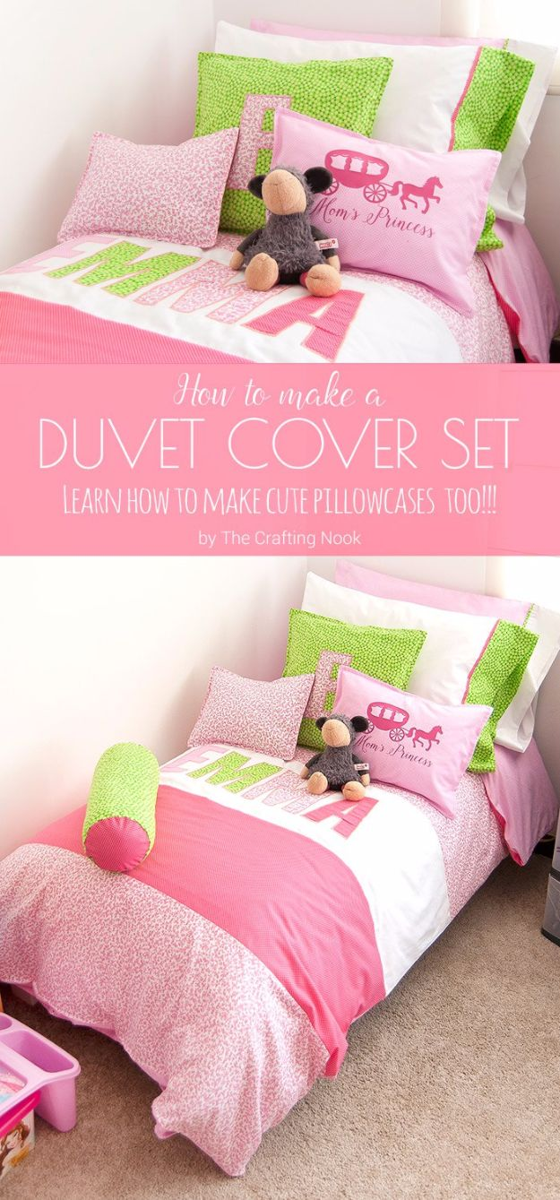 Duvet Cover DIY Duvet Covers - Duvet Cover Set - Easy Sewing Projects and No Sew Ideas for Duvets - Cheap Bedroom Decor Ideas on A Budget - How To Sew A Duvet Cover and Bedding Tutorial - Creative Covers for Bed - Quick Projects for Making Designer Duvets - Awesome Home Decor Ideas and Crafts http://diyjoy.com/diy-duvet-covers