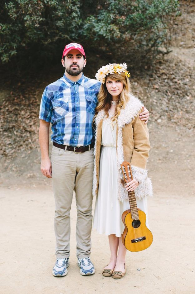 DIY Halloween Costumes for Couples - Forrest Gump And Jenny - Funny, Creative and Scary Ideas for Parties, College Party - Unique and Cute Project Idea for Disney Characters, Superhero, Movie Themes, Bonnie and Clyde, Homemade Costume Projects for Boyfriends - Quick Last Minutes Halloween Costume Ideas from Pinterest http://diyjoy.com/best-halloween-costumes-couples