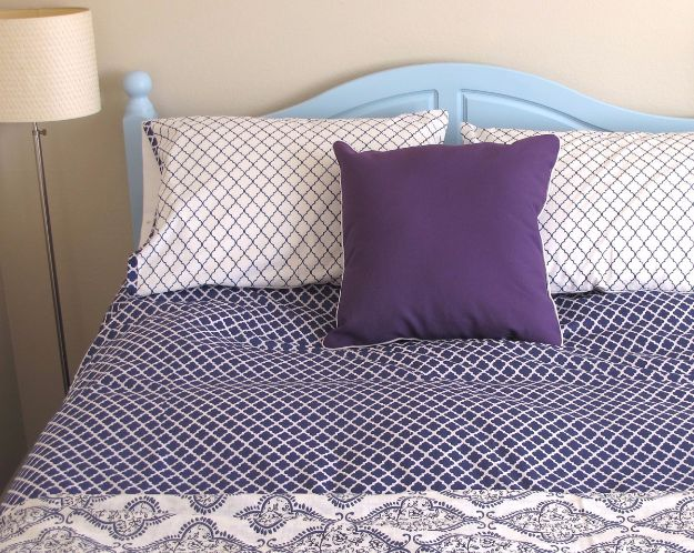 DIY Duvet Covers - Make a Duvet Cover and Matching Shams - Easy Sewing Projects and No Sew Ideas for Duvets - Cheap Bedroom Decor Ideas on A Budget - How To Sew A Duvet Cover and Bedding Tutorial - Creative Covers for Bed - Quick Projects for Making Designer Duvets - Awesome Home Decor Ideas and Crafts http://diyjoy.com/diy-duvet-covers