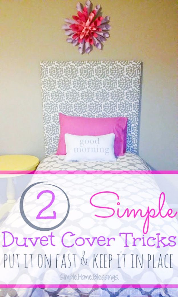 DIY Duvet Covers - Simple Duvet Cover Tricks - Easy Sewing Projects and No Sew Ideas for Duvets - Cheap Bedroom Decor Ideas on A Budget - How To Sew A Duvet Cover and Bedding Tutorial - Creative Covers for Bed - Quick Projects for Making Designer Duvets - Awesome Home Decor Ideas and Crafts http://diyjoy.com/diy-duvet-covers