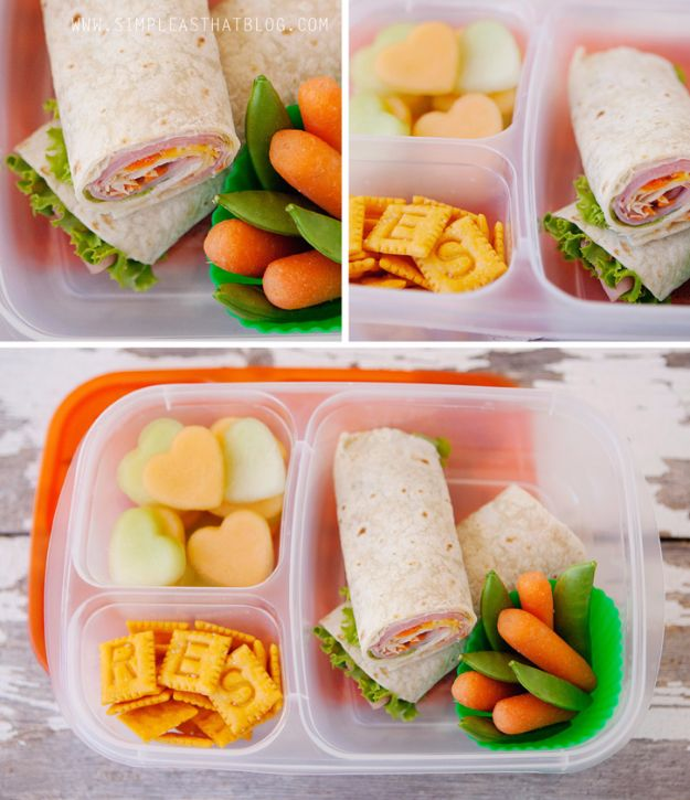 Back to School Lunch Ideas - Meat, Cheese and Veggie Wraps - Quick Snacks, Lunches and Homemade Lunchables - Bento Box Style Lunch for People in A Hurry - Fast Lunch Recipes to Pack Ahead - Healthy Ideas for Kids, Teens and Adults http://diyjoy.com/back-to-school-lunches
