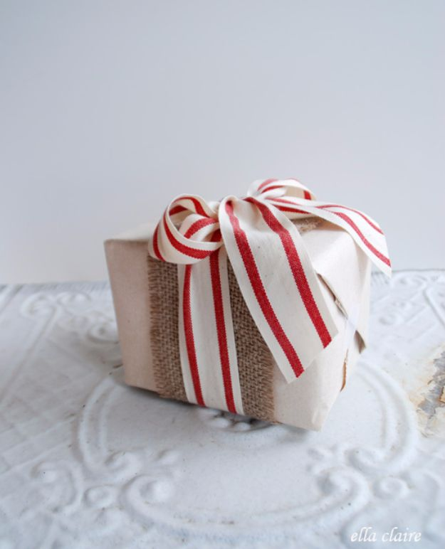 Creative Bows For Packages - Bows And Burlap - Make DIY Bows for Christmas Presents and Holiday Gifts - Cute and Easy Ideas for Making Your Own Bows and Ribbons - Step by Step Tutorials and Instructions for Tying A Bow - Cheap and Crafty Gift Wrapping Ideas on A Budget http://diyjoy.com/diy-bows-gifts-packages