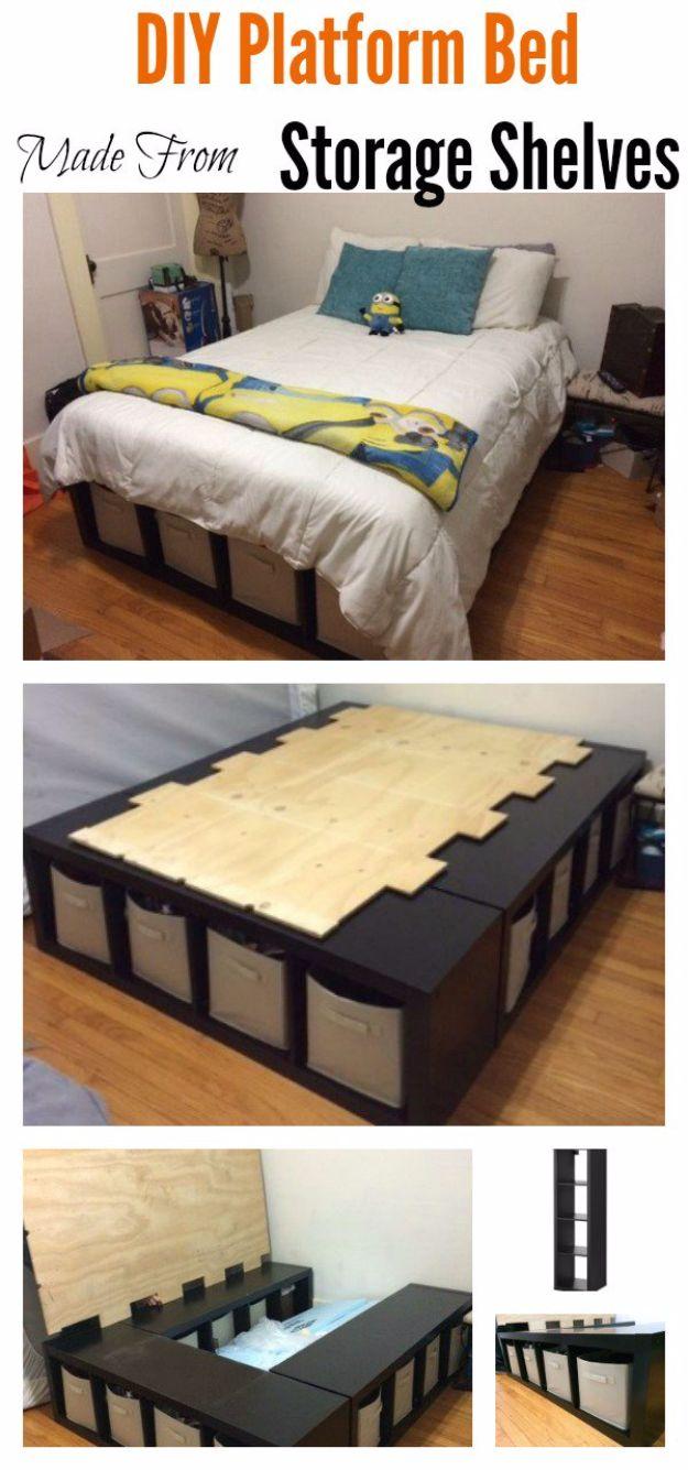 20 DIY Platform Beds For An Impressive Bedroom   DIY Opic   20