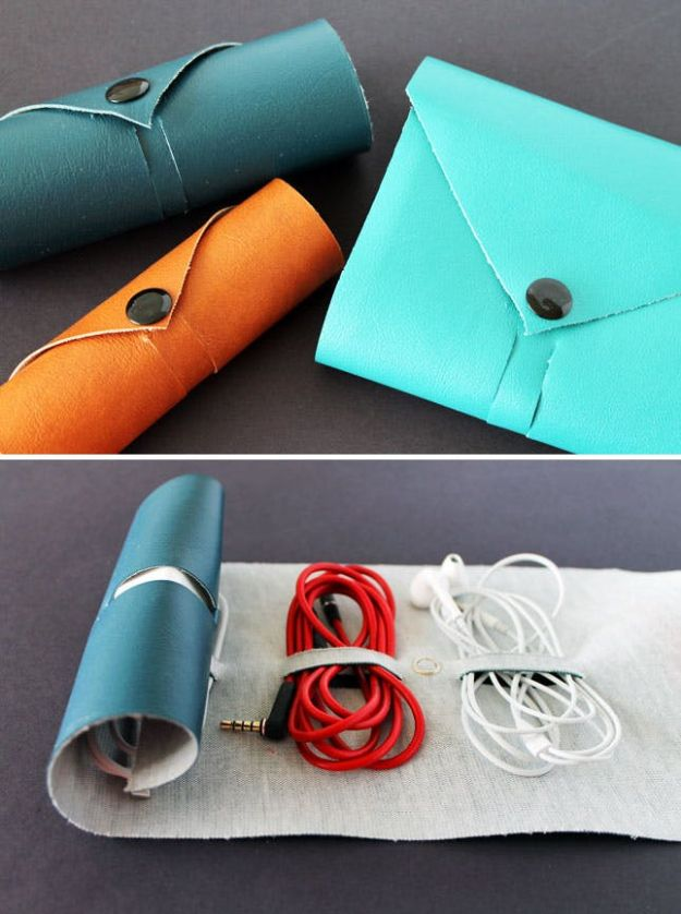Cheap DIY Gifts and Inexpensive Homemade Christmas Gift Ideas for People on A Budget - Leather Cord Roll - To Make These Cool Presents Instead of Buying for the Holidays - Easy and Low Cost Gifts for Mom, Dad, Friends and Family - Quick Dollar Store Crafts and Projects for Xmas Gift Giving Parties - Step by Step Tutorials and Instructions http://diyjoy.com/cheap-holiday-gift-ideas-to-make