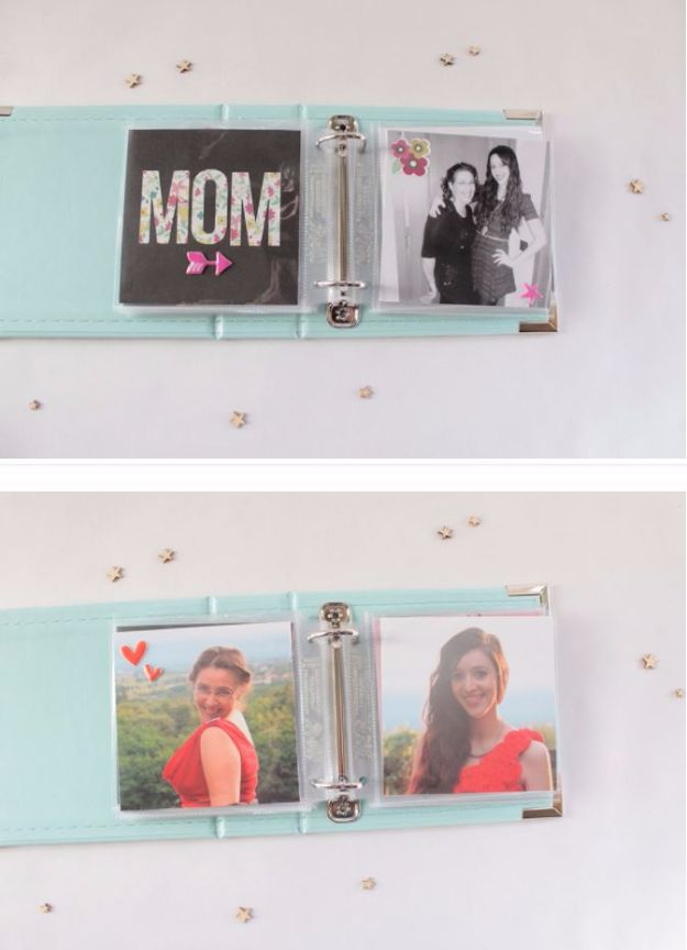 Cool Gifts to Make For Mom - Mom Mini Album - DIY Gift Ideas and Christmas Presents for Your Mother, Mother-In-Law, Grandma, Stepmom - Creative , Holiday Crafts and Cheap DIY Gifts for The Holidays - Thoughtful Homemade Spa Day Gifts, Creative Wall Art, Special Ideas for Her - Easy Xmas Gifts to Make With Step by Step Tutorials and Instructions http://diyjoy.com/cheap-holiday-gift-ideas-to-make