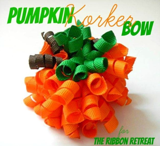 Creative Bows For Packages - Pumpkin Korker Bow - Make DIY Bows for Christmas Presents and Holiday Gifts - Cute and Easy Ideas for Making Your Own Bows and Ribbons - Step by Step Tutorials and Instructions for Tying A Bow - Cheap and Crafty Gift Wrapping Ideas on A Budget http://diyjoy.com/diy-bows-gifts-packages