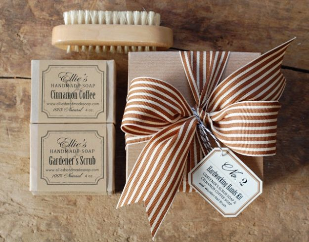 Creative Bows For Packages - Striped Chocolate Ribbon Bow - Make DIY Bows for Christmas Presents and Holiday Gifts - Cute and Easy Ideas for Making Your Own Bows and Ribbons - Step by Step Tutorials and Instructions for Tying A Bow - Cheap and Crafty Gift Wrapping Ideas on A Budget http://diyjoy.com/diy-bows-gifts-packages