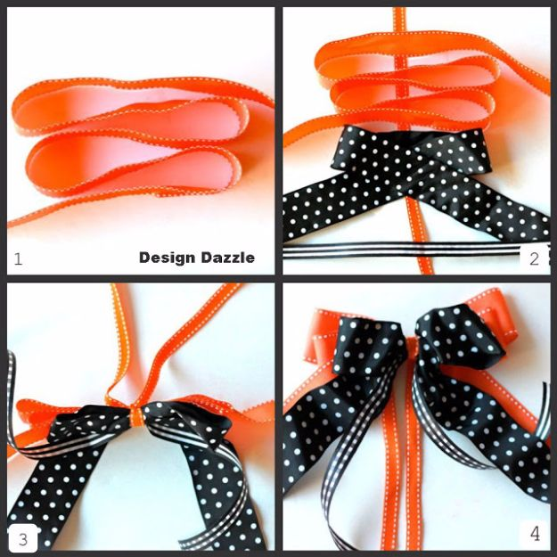 Creative Bows For Packages - Super Easy Layered Bow - Make DIY Bows for Christmas Presents and Holiday Gifts - Cute and Easy Ideas for Making Your Own Bows and Ribbons - Step by Step Tutorials and Instructions for Tying A Bow - Cheap and Crafty Gift Wrapping Ideas on A Budget http://diyjoy.com/diy-bows-gifts-packages