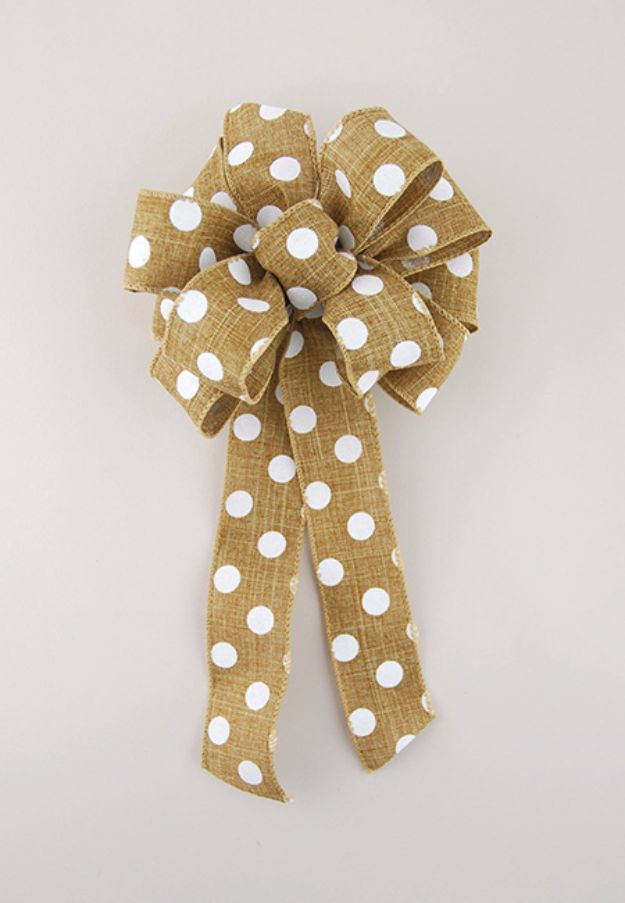 Creative Bows For Packages - Tie a Loopy Bow - Make DIY Bows for Christmas Presents and Holiday Gifts - Cute and Easy Ideas for Making Your Own Bows and Ribbons - Step by Step Tutorials and Instructions for Tying A Bow - Cheap and Crafty Gift Wrapping Ideas on A Budget http://diyjoy.com/diy-bows-gifts-packages
