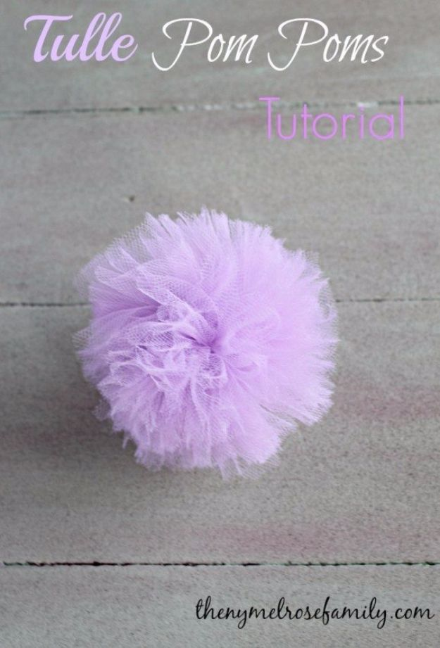Creative Bows For Packages - Tulle Pom Pom Bow - Make DIY Bows for Christmas Presents and Holiday Gifts - Cute and Easy Ideas for Making Your Own Bows and Ribbons - Step by Step Tutorials and Instructions for Tying A Bow - Cheap and Crafty Gift Wrapping Ideas on A Budget http://diyjoy.com/diy-bows-gifts-packages