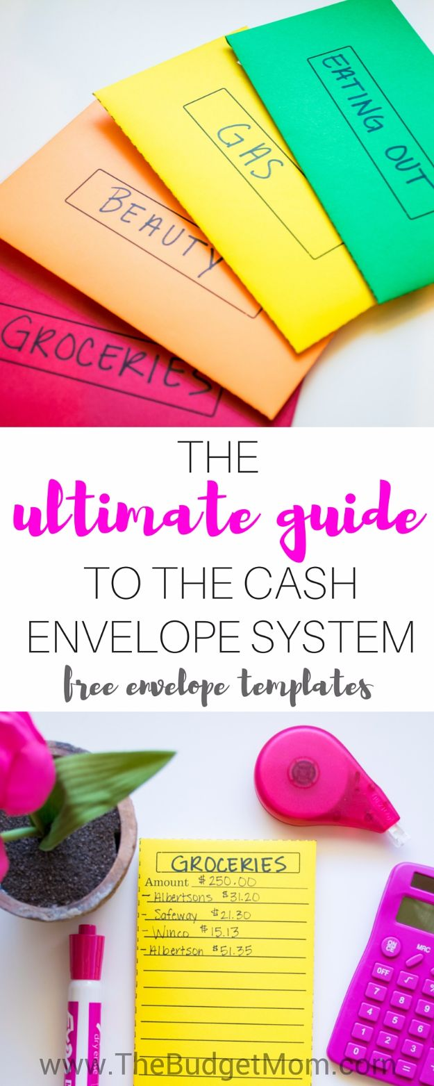 Ways to Save Money in 2018 - Cash Envelope System - Easy Money Saving Ideas and Tips for Budgeting - Cool Idea for Budget Planning and Smart Financial Advice for Beginners - Create Order, Organize and Save Cash As You Top New Years Resolution, Every Little Bit Helps You Save For That Next Vacation! http://diyjoy.com/ways-to-save-money