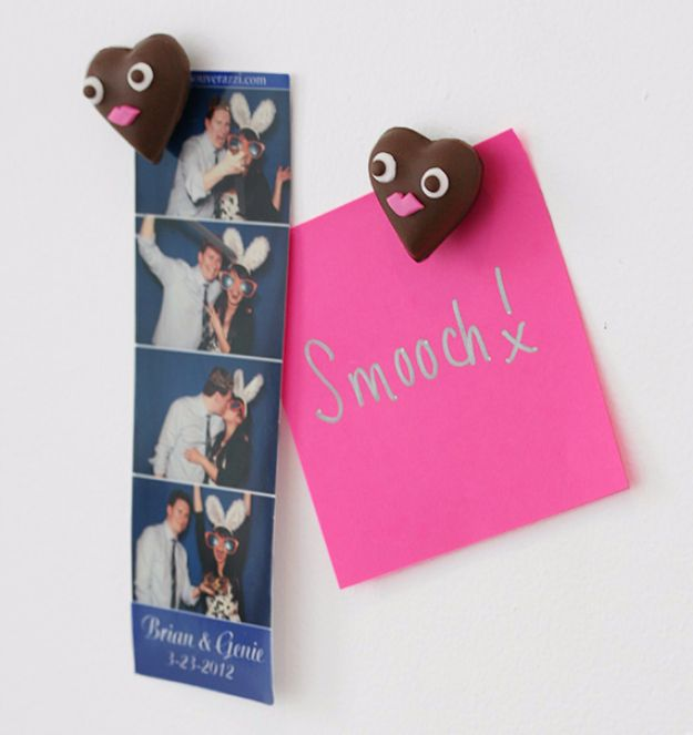 DIY Valentines Day Gifts for Him - Chocolate Heart Magnets - Cool and Easy Things To Make for Your Husband, Boyfriend, Fiance - Creative and Cheap Do It Yourself Projects to Give Your Man - Ideas Guys Love These Ideas for Car, Yard, Home and Garage - Make, Don't Buy Your Valentine http://diyjoy.com/diy-valentines-gifts-him