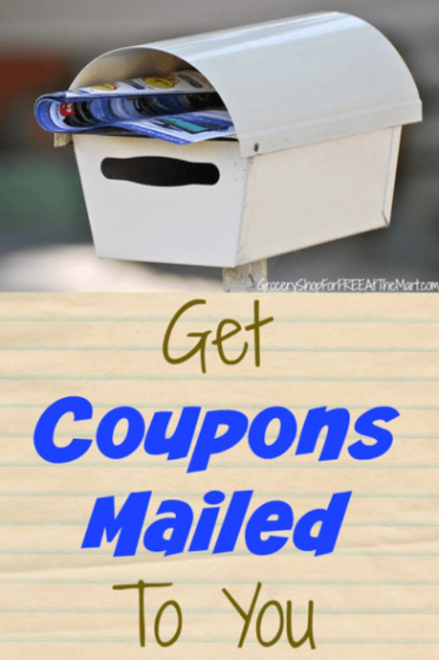 Ways to Save Money in 2018 - Get Coupons Mailed To You - Easy Money Saving Ideas and Tips for Budgeting - Cool Idea for Budget Planning and Smart Financial Advice for Beginners - Create Order, Organize and Save Cash As You Top New Years Resolution, Every Little Bit Helps You Save For That Next Vacation! http://diyjoy.com/ways-to-save-money