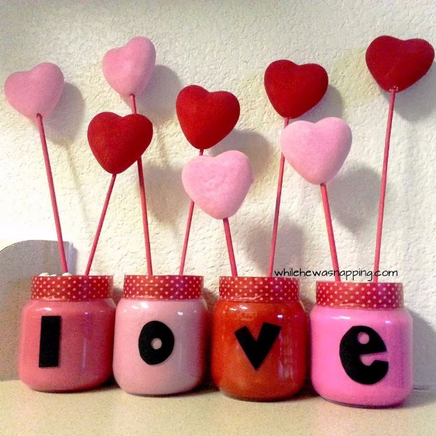 DIY Valentines Day Gifts for Her - LOVE Garden - Cool and Easy Things To Make for Your Wife, Girlfriend, Fiance - Creative and Cheap Do It Yourself Projects to Give Your Girl - Ladies Love These Ideas for Bath, Yard, Home and Kitchen, Outdoors - Make, Don't Buy Your Valentine http://diyjoy.com/diy-valentines-gifts-her