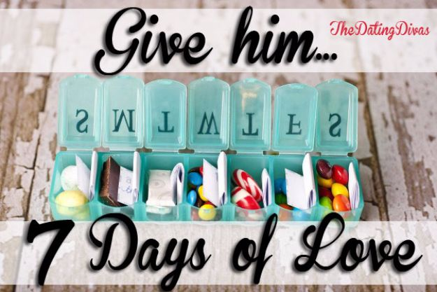 DIY Valentines Day Gifts for Him - Seven Days of Love - Cool and Easy Things To Make for Your Husband, Boyfriend, Fiance - Creative and Cheap Do It Yourself Projects to Give Your Man - Ideas Guys Love These Ideas for Car, Yard, Home and Garage - Make, Don't Buy Your Valentine http://diyjoy.com/diy-valentines-gifts-him