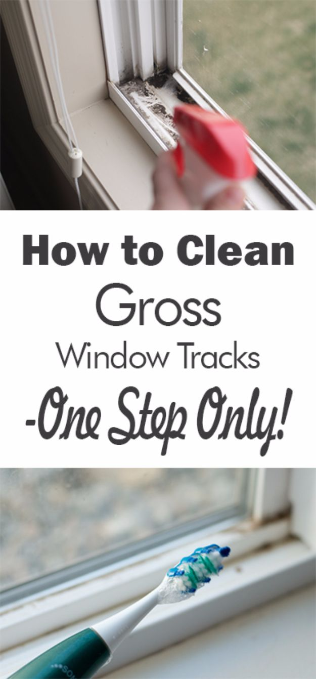 Best Spring Cleaning Ideas - Clean Gross Window Tracks In One Step - Easy Cleaning Tips For Home - DIY Cleaning Hacks and Product Recipes - Tips and Tricks for Cleaning the Bathroom, Kitchen, Floors and Countertops - Cheap Solutions for A Clean House http://diyjoy.com/best-spring-cleaning-ideas