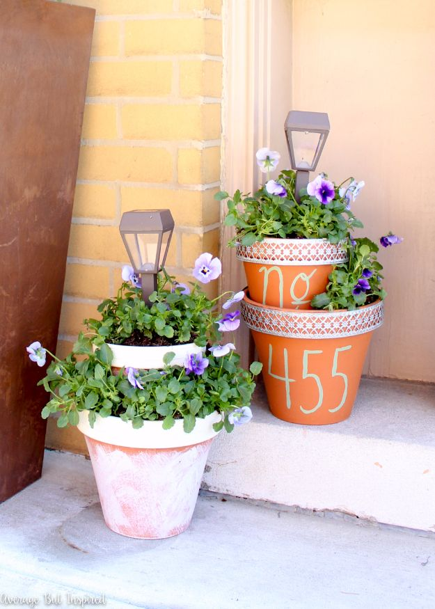 DIY Outdoor Planters - DIY Solar Light Planters - Easy Planter Ideas to Make for The Porch, Pation and Backyard - Your Plants Will Love These DIY Plant Holders, Potting Ideas and Planter Boxes - Gardening DIY for Big and Small Plants Outdoors - Concrete, Wood, Cheap, Simple, Modern and Rustic Projects With Step by Step Instructions http://diyjoy.com/diy-oudoor-planters
