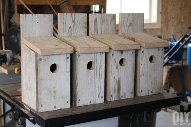 DIY Bird Houses - Blue Bird Birdhouses - Easy Bird House Ideas for Kids and Adult To Make - Free Plans and Tutorials for Wooden, Simple, Upcyle Designs, Recycle Plastic and Creative Ways To Make Rustic Outdoor Decor and a Home for the Birds - Fun Projects for Your Backyard This Summer http://diyjoy.com/diy-bird-houses