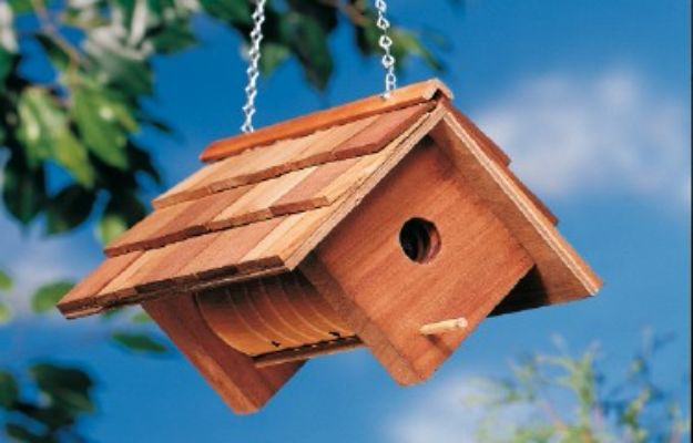 DIY Bird Houses - Cute DIY Birdhouse - Easy Bird House Ideas for Kids and Adult To Make - Free Plans and Tutorials for Wooden, Simple, Upcyle Designs, Recycle Plastic and Creative Ways To Make Rustic Outdoor Decor and a Home for the Birds - Fun Projects for Your Backyard This Summer http://diyjoy.com/diy-bird-houses
