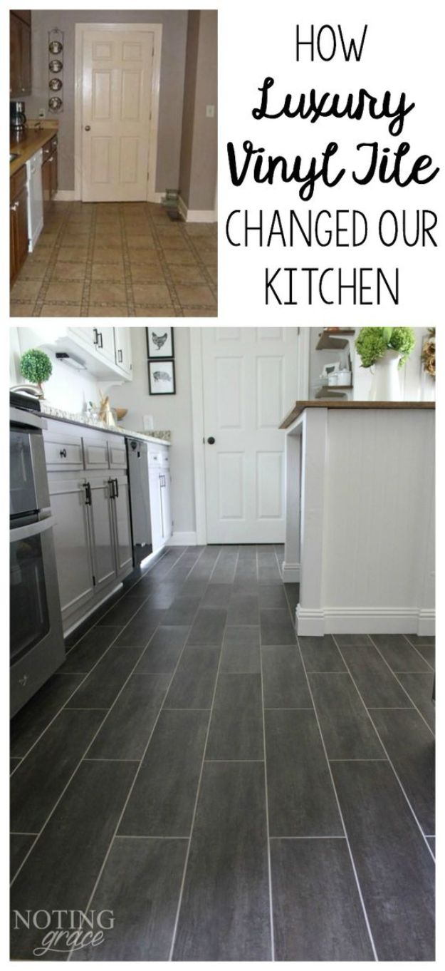 DIY Flooring Projects - DIY Kitchen Flooring - Cheap Floor Ideas for Those On A Budget - Inexpensive Ways To Refinish Floors With Concrete, Laminate, Plywood, Peel and Stick Tile, Wood, Vinyl - Easy Project Plans and Unique Creative Tutorials for Cool Do It Yourself Home Decor http://diyjoy.com/diy-flooring-projects