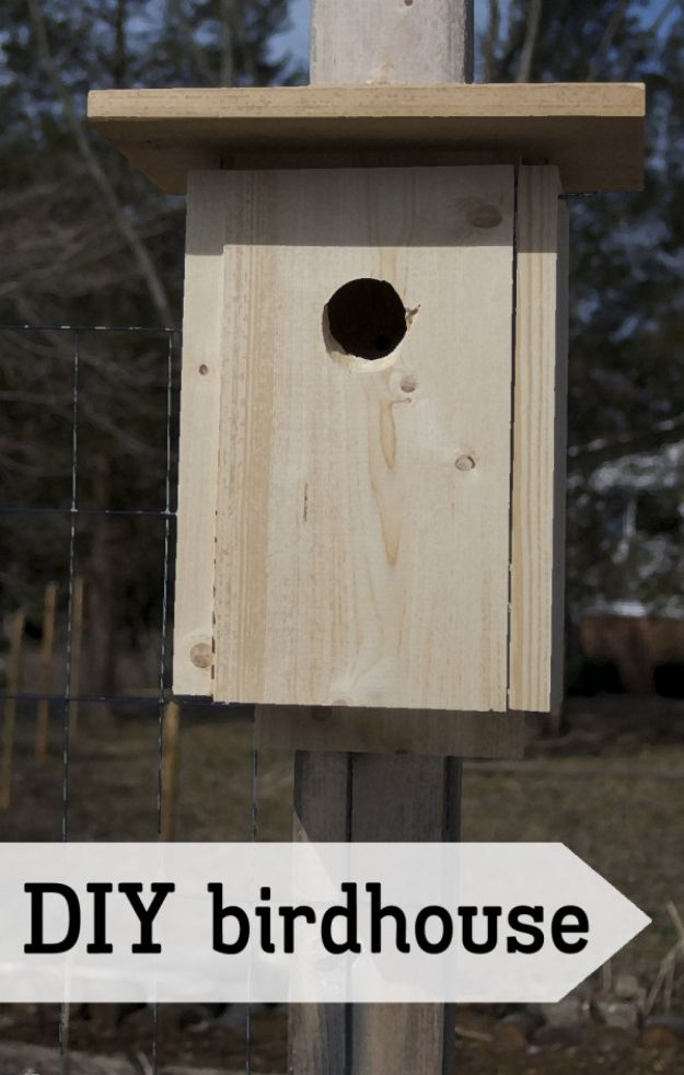 DIY Bird Houses - DIY Simple Birdhouse - Easy Bird House Ideas for Kids and Adult To Make - Free Plans and Tutorials for Wooden, Simple, Upcyle Designs, Recycle Plastic and Creative Ways To Make Rustic Outdoor Decor and a Home for the Birds - Fun Projects for Your Backyard This Summer http://diyjoy.com/diy-bird-houses