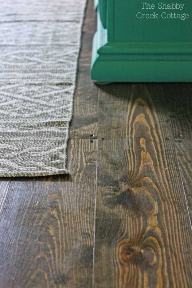DIY Flooring Projects - DIY Wood Floors - Cheap Floor Ideas for Those On A Budget - Inexpensive Ways To Refinish Floors With Concrete, Laminate, Plywood, Peel and Stick Tile, Wood, Vinyl - Easy Project Plans and Unique Creative Tutorials for Cool Do It Yourself Home Decor http://diyjoy.com/diy-flooring-projects