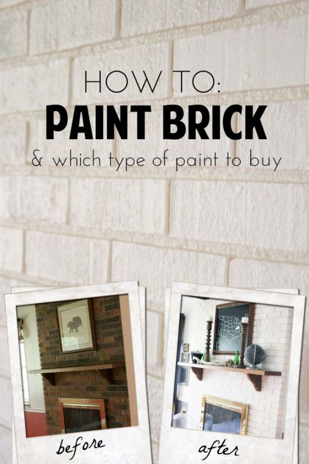 DIY Painting Hacks - Paint Brick - Easy Ways To Shortcut House Painting - Wall Prep, Painters Tape, Trim, Edging, Ceiling, Exterior Cutting In, Furniture and Crafts Paint Tips - Paint Your House Or Your Room With These Time Saving Painter Hacks and Quick Tricks http://diyjoy.com/diy-painting-hacks