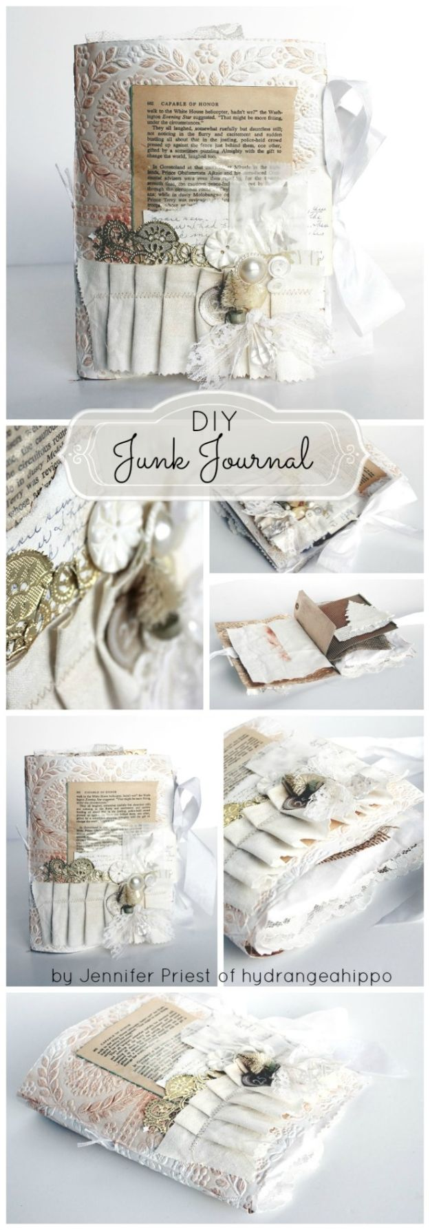 DIY Journals - DIY Junk Journal - Ideas For Making A Handmade Journal - Cover Art Tutorial, Binding Tips, Easy Craft Ideas for Kids and For Teens - Step By Step Instructions for Making From Scratch, From An Old Book - Leather, Faux Marble, Paper, Monogram, Cute Do It Yourself Gift Idea http://diyjoy.com/diy-journals