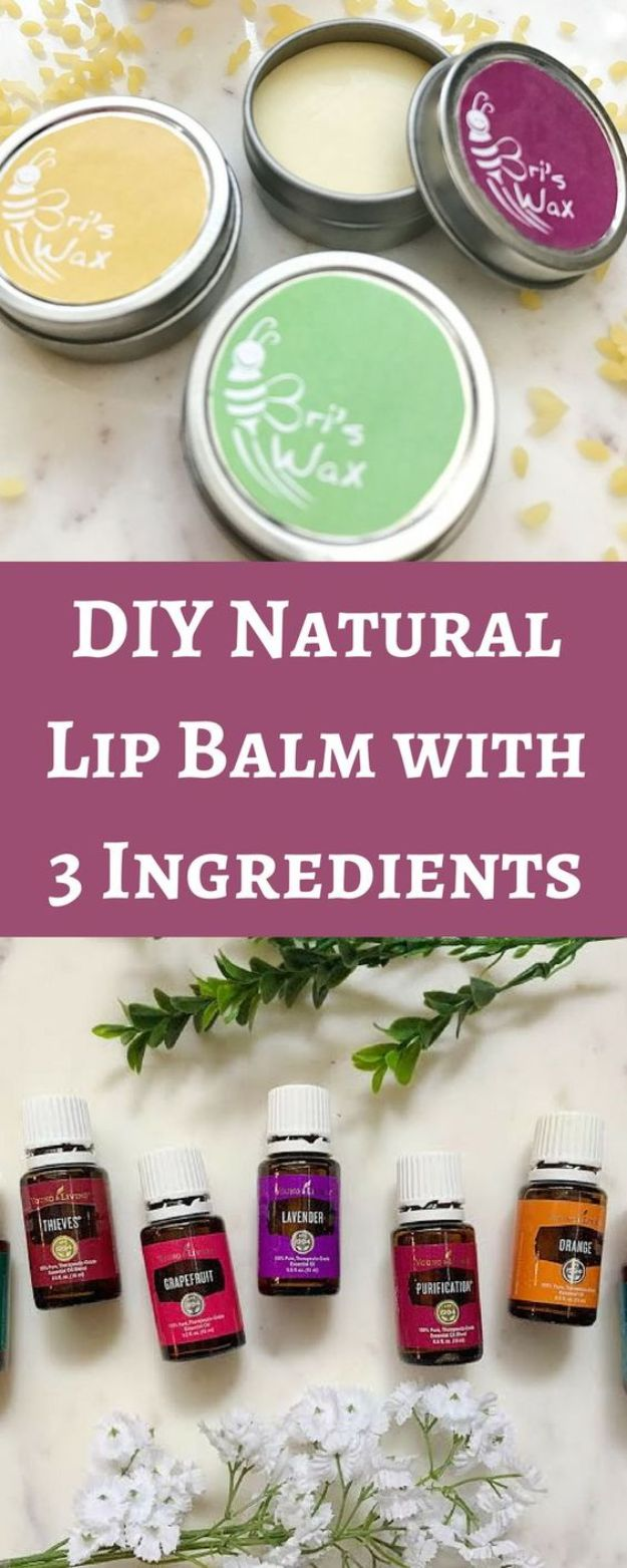 DIY Essential Oil Recipes and Ideas - Natural DIY Lip Balm With Essential Oils - Cool Recipes, Crafts and Home Decor to Make With Essential Oil - Diffuser Projects, Roll On Prodicts for Skin - Recipe Tutorials for Cleaning, Colds, For Sleep, For Hair, For Paint, For Weight Loss http://diyjoy.com/diy-ideas-essential-oils