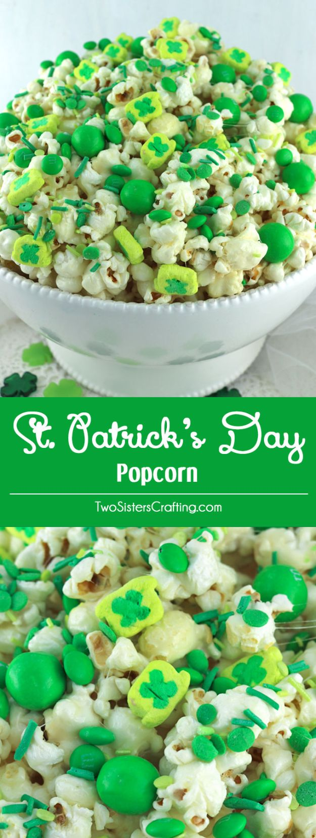 St Patrick's Day Food and Recipe Ideas - St. Patrick's Day Popcorn - DIY St. Patrick's Day Party Recipes for Dinner, Desserts, Cookies, Cakes, Snacks, Dips and Drinks - Green Shamrocks, Leprechauns and Cute Party Foods - Easy Appetizers and Healthy Treats for Adults and Kids To Make - Potluck, Crockpot, Traditional and Corned Beef http://diyjoy.com/st-patricks-day-recipes