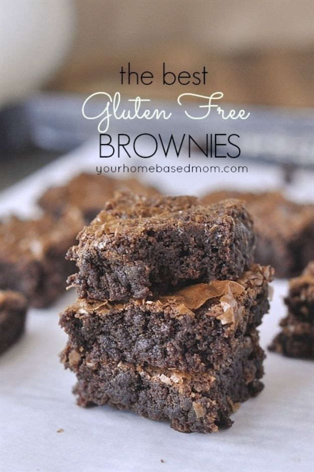 Gluten Free Desserts - Gluten Free Brownies - Easy Recipes and Healthy Recipe Ideas for Cookies, Cake, Pie, Cupcakes, Cheesecake and Ice Cream - Best No Sugar Glutenfree Chocolate, No Bake Dessert, Fruit, Peach, Apple and Banana Dishes - Flourless Christmas, Thanksgiving and Holiday Dishes http://diyjoy.com/gluten-free-desserts