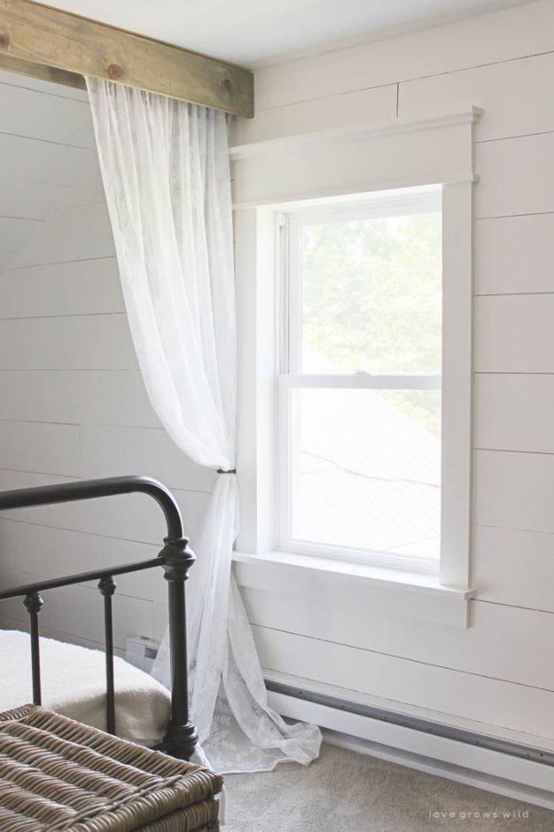 All White DIY Room Decor - Farmhouse Window Trim - Creative Home Decor Ideas for the Bedroom and Living Room, Kitchen and Bathroom - Do It Yourself Crafts and White Wall Art, Bedding, Curtains, Lamps, Lighting, Rugs and Accessories - Easy Room Decoration Ideas for Modern, Vintage Farmhouse and Minimalist Furnishings - Furniture, Wall Art and DIY Projects With Step by Step Tutorials and Instructions http://diyjoy.com/all-white-decor-ideas