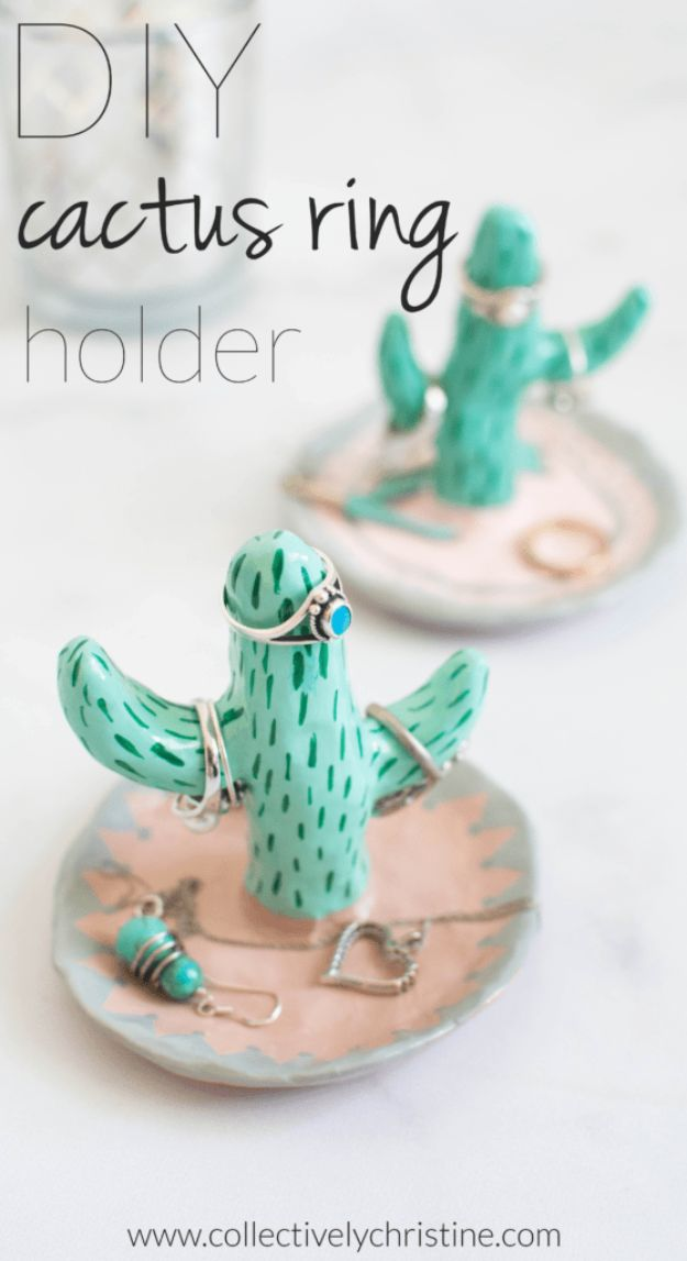 Crafts To Make and Sell - DIY Cactus Ring Holder - 75 MORE Easy DIY Ideas for Cheap Things To Sell on Etsy, Online and for Craft Fairs. Make Money with These Homemade Crafts for Teens, Kids, Christmas, Summer, Mother's Day Gifts. http://diyjoy.com/crafts-to-make-and-sell-ideas