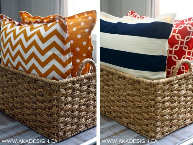 No Sew DIY Home Decor Ideas - No-Sew Floor Pillows - Easy No Sew Projects to Make for Bedroom,. Kitchen, Bath - Crafts to Make and Sell, Blankets, No Sewing Project Ideas