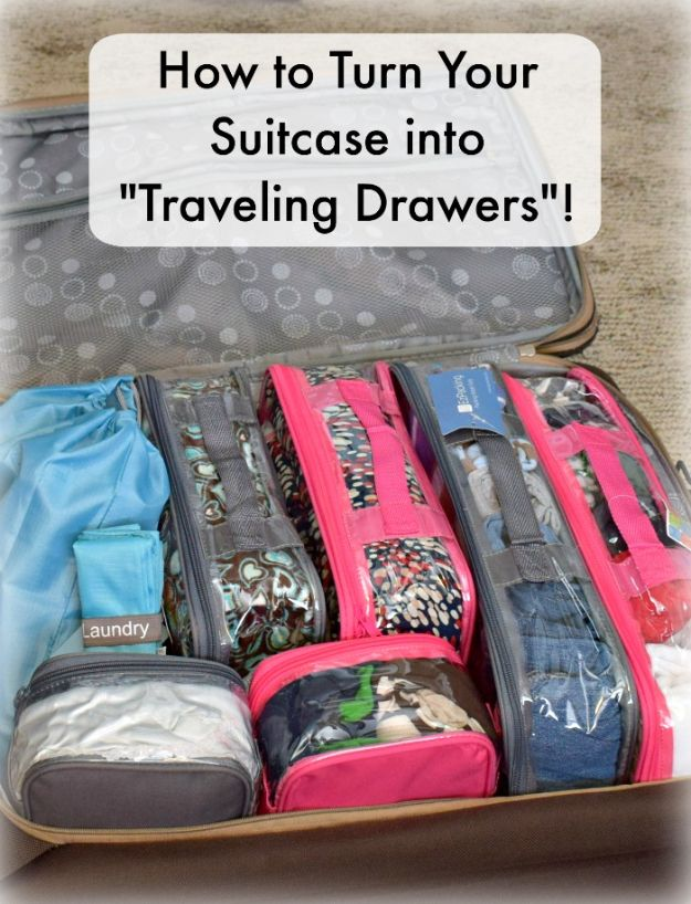 Packing Hacks for Travel - Packing an Organized Suitcase - How to Pack and Fold Clothes, Save Space in Suitcase - Tips and Tricks for Shoes, Makeup, Toiletries, Carry On Luggage for Trips