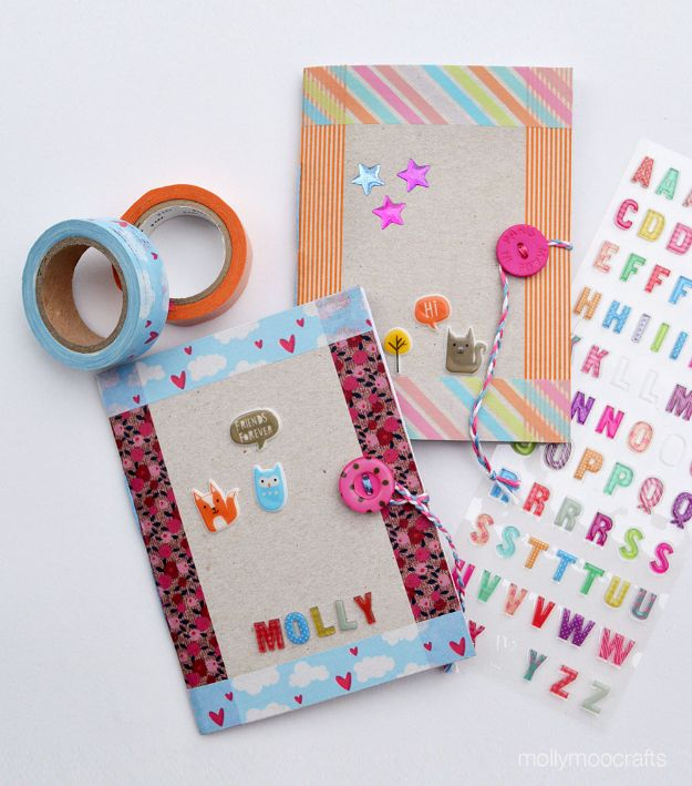 Cool DIY Ideas With Cereal Boxes - DIY Cereal Box Notebook - Easy Organizing Ideas, Cute Kids Crafts and Creative Ways to Make Things Out of A Cereal Box - Cheap Gifts, DIY School Supplies and Storage Ideas http://diyjoy.com/diy-ideas-cereal-boxes